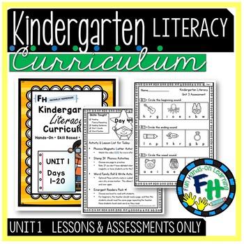 Kindergarten Literacy Curriculum UNIT 1 (LESSONS & ASSESSM