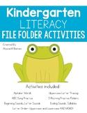Kindergarten Literacy File Folder Activities