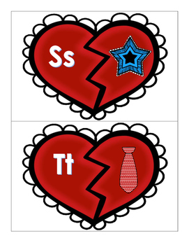 Kindergarten Literacy  - Letter Sounds Matching - Valentine's Day