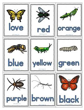 Kindergarten- Literacy- Special Education-Sight Word Game-Insects!