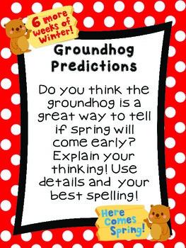 Kindergarten Literacy Station for February
