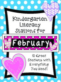 Kindergarten Literacy Station for February