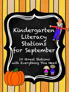 Kindergarten Literacy Stations for September with BONUS Calendar Pieces