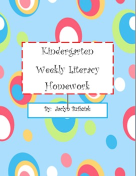 Kindergarten Literacy Weekly Homework