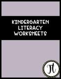Kindergarten Literacy Worksheets: cvc- reading- sight words-beginning sounds