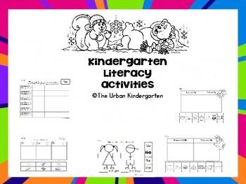 Kindergarten Literacy activities