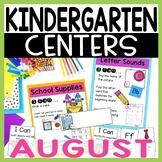 Kindergarten Literacy and Math Centers AUGUST