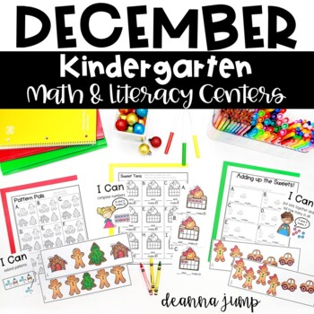Kindergarten Literacy and Math Centers DECEMBER