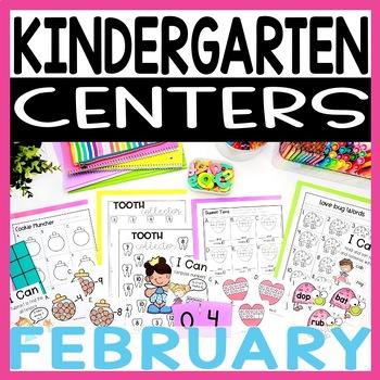 Kindergarten Literacy and Math Centers FEBRUARY