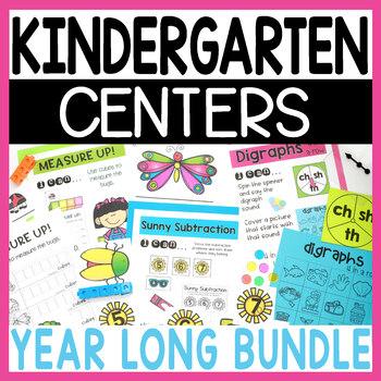 Kindergarten Literacy and Math Centers YEAR LONG BUNDLE