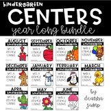 Kindergarten Literacy and Math Centers GROWING BUNDLE