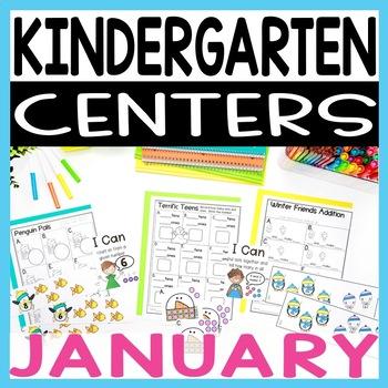 Kindergarten Literacy and Math Centers JANUARY