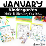 Kindergarten Literacy and Math Centers JANUARY