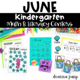 Kindergarten Literacy and Math Centers JUNE