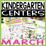 Kindergarten Literacy and Math Centers MARCH