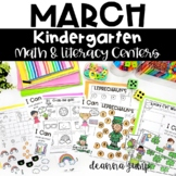 Kindergarten Literacy and Math Centers MARCH