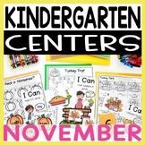Kindergarten Literacy and Math Centers NOVEMBER
