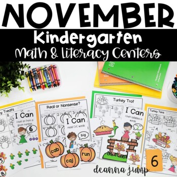 Kindergarten Literacy and Math Centers NOVEMBER