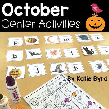 Kindergarten Math and Literacy Centers (OCTOBER)
