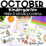 Kindergarten Literacy and Math Centers OCTOBER