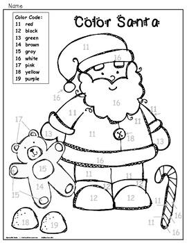 Kindergarten Literacy and Math Centers for December