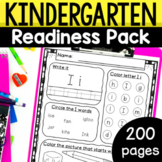 Kindergarten Readiness Summer Packet Math and Literacy worksheets