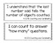 Kindergarten Literacy and Math I Can Statements