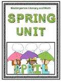 Kindergarten Literacy and Math Spring Unit