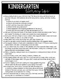 Kindergarten Literacy and Math Tips