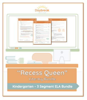 Emergency Sub Plans: Kindergarten: ELA: Recess Queen