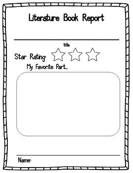 Do book report kindergarten