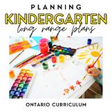 Ontario Kindergarten Long Range Plans - Full Year - DIGITA