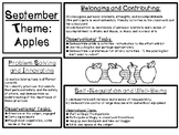 Kindergarten Long Range Theme Plans (Ontario)