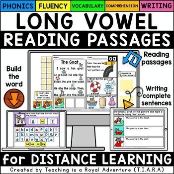 Kindergarten Long Vowel Reading Passages