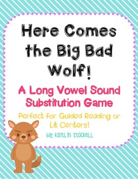 Long Vowel Sound Substitution Game for Literacy Centers!