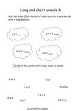 Kindergarten Long and Short Vowels A