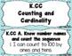 Kindergarten Louisiana State Standards I Can Statements Bundle