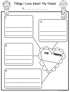 Valentine's Day Love Letters -Writing Activity - K/1