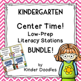 Kindergarten Low Prep Literacy Growing Bundle