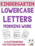 Kindergarten  Lowercase Letters and Sounds Morning Work Pa