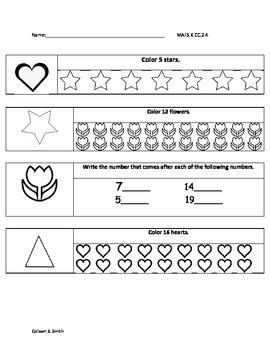 Kindergarten MAFS benchmarks/ kindergarten benchmark assessments