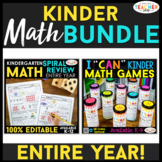 Kindergarten MATH BUNDLE | Math Spiral Review & I CAN Math