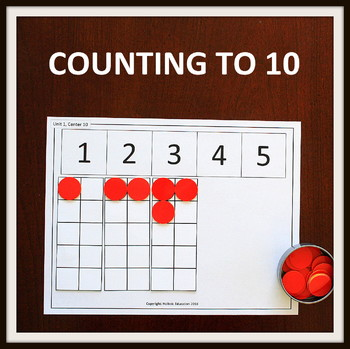 Kindergarten MATH Centers: Counting to 10