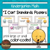 "Kindergarten MATH Common Core ""I Can"" Classroom Posters and Statement Cards"