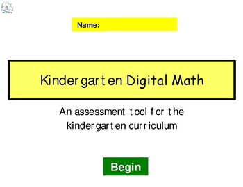 Kindergarten Digital Math - Common Core Aligned