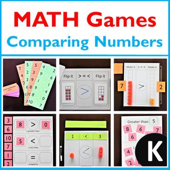 Kindergarten MATH Games: Comparing Numbers