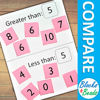 Kindergarten MATH Games: Comparing Numbers Sort