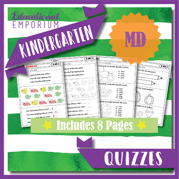 Kindergarten MD Quizzes: Measurement & Data Quizzes, Kindergarten Math Quizzes