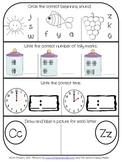 Kindergarten MOY Morning Work - Common Core Aligned