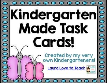 Kindergarten Made Word Problem Task Cards